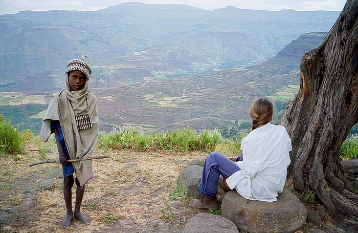 Guide in the hills of Lalibela, Ethiopia