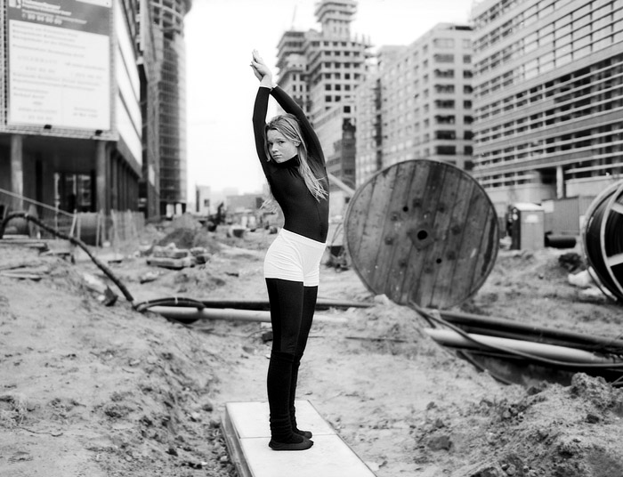 Karoline Herfurth on the unfinished Potsdamer Platz in Berlin, before she became an actress